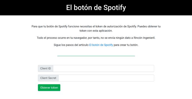 Herramienta para obtener los tokens de Spotify